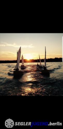 Sonnenuntergang beim Opti Training
